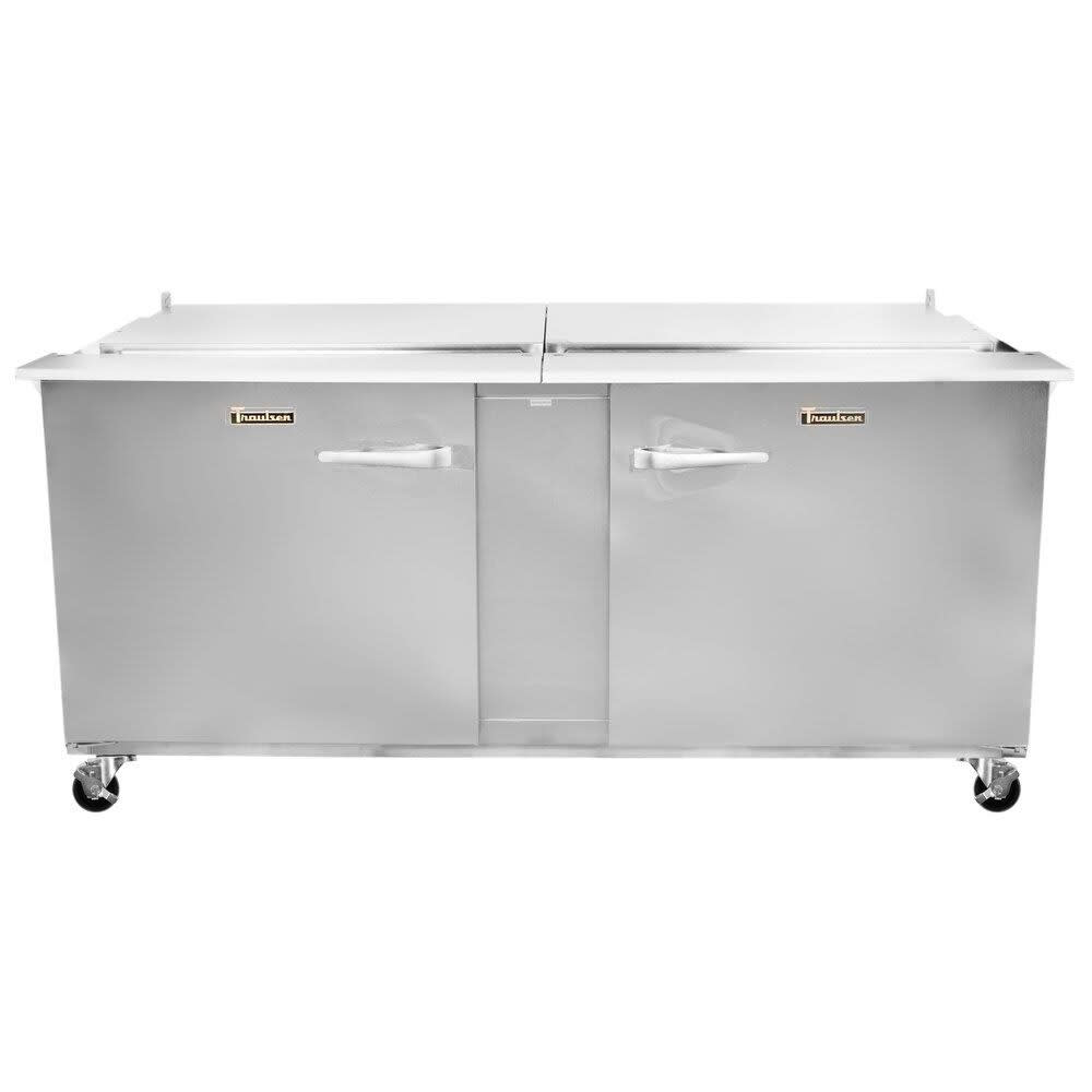 "Traulsen UST7230-LR 72"" Sandwich/Salad Prep Table w/ Refrigerated Base, 115v"