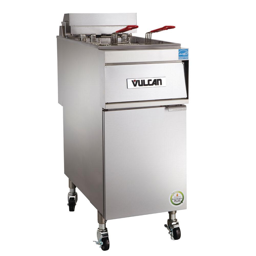 Vulcan 1ER50A-1 Electric Fryer - (1) 50 lb Vat, Floor Model, 208v/3ph