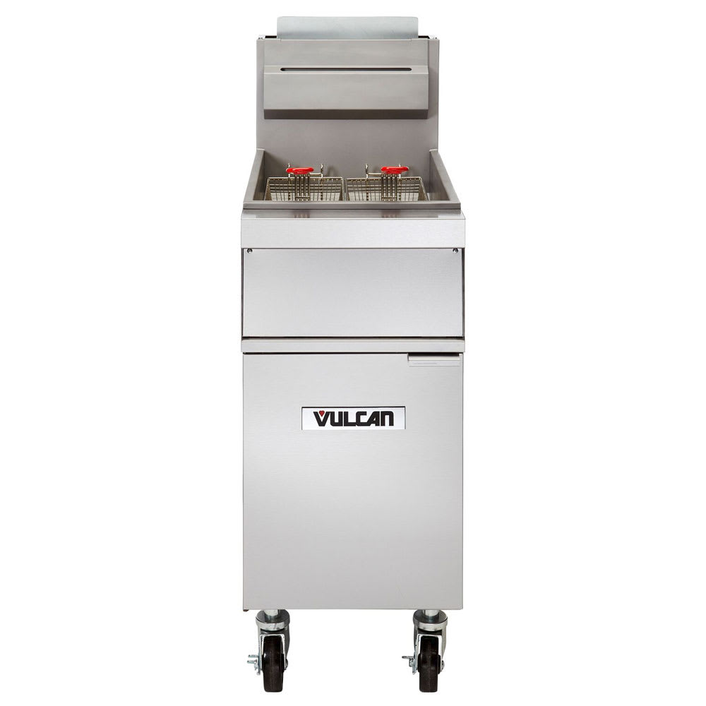 Vulcan 1GR45M Gas Fryer - (1) 50 lb Vat, Floor Model, LP