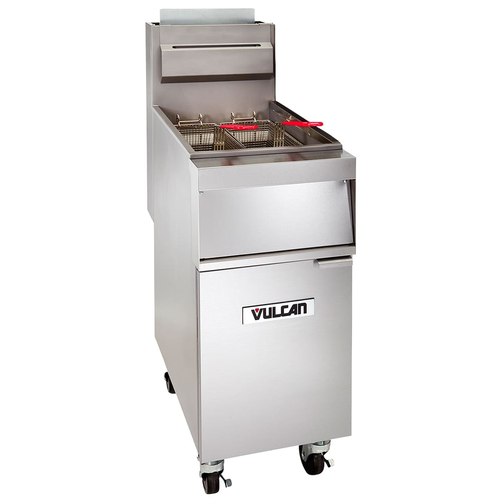 Vulcan 1GR85M Gas Fryer - (1) 90 lb Vat, Floor Model, NG