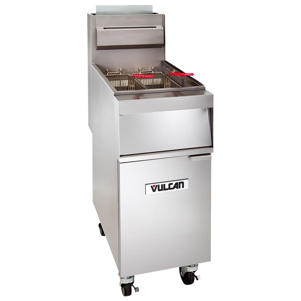 Vulcan 1GR85M Gas Fryer - (1) 90-lb Vat, Floor Model, NG