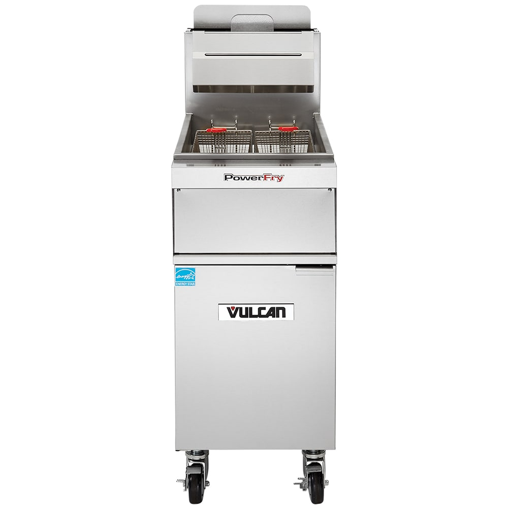 Vulcan 1TR45AF Gas Fryer - (1) 50 lb Vat, Floor Model, LP