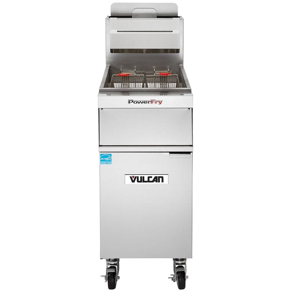 Vulcan 1TR45A Gas Fryer - (1) 50 lb Vat, Floor Model, NG