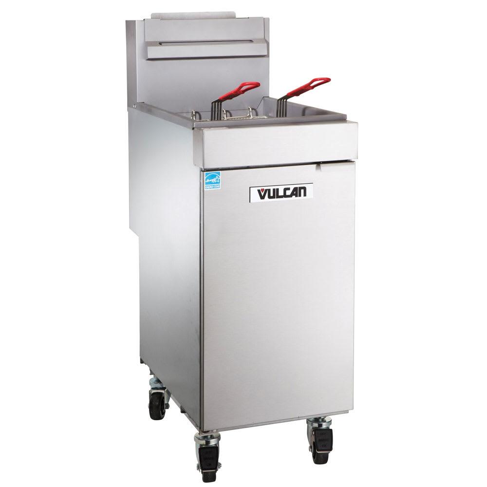 Vulcan 1VEG35M Gas Fryer - (1) 40 lb Vat, Floor Model, LP