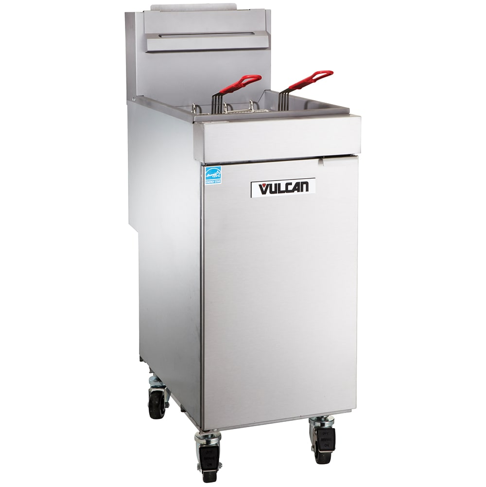 Vulcan 1VEG35M Gas Fryer - (1) 40 lb Vat, Floor Model, NG