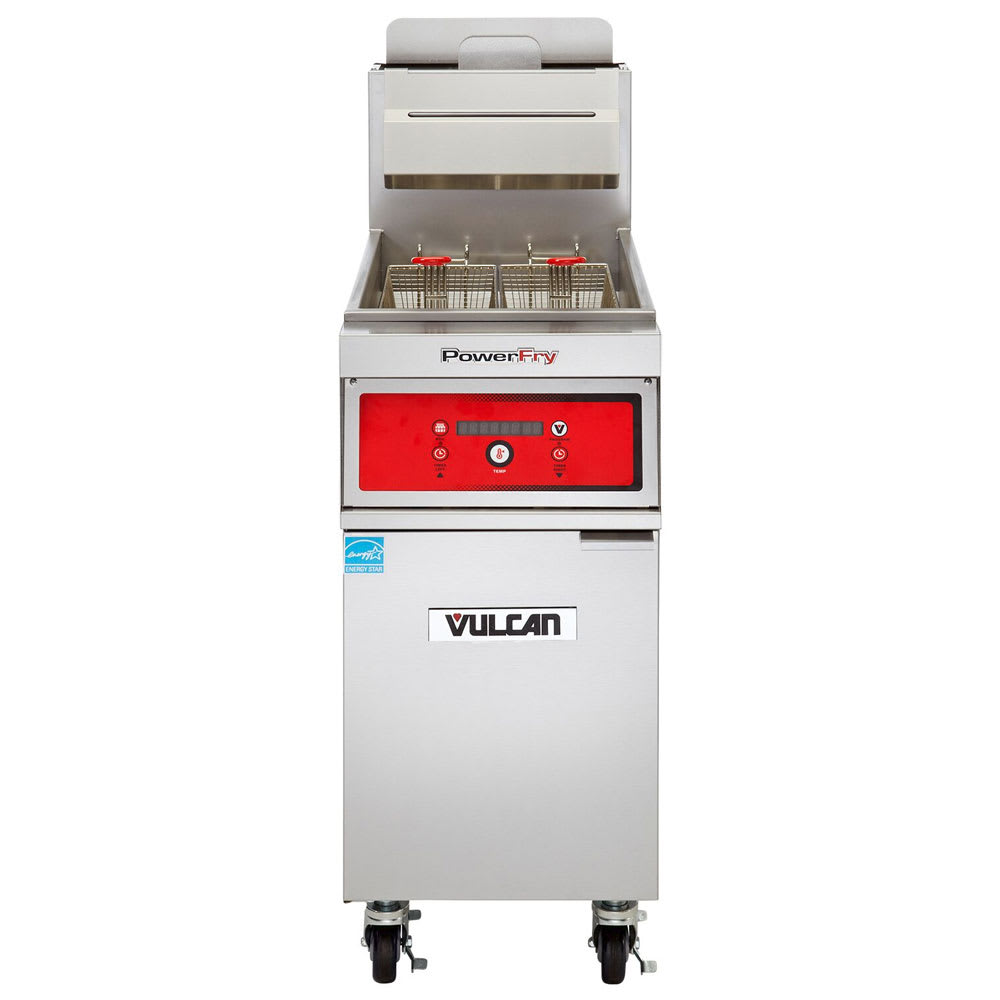 Vulcan 1VK45D Gas Fryer - (1) 50 lb Vat, Floor Model, LP