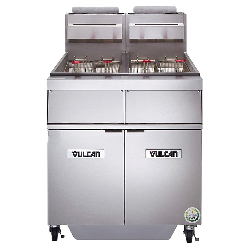 Vulcan 2GR45AF Gas Fryer - (2) 50 lb Vat, Floor Model, NG