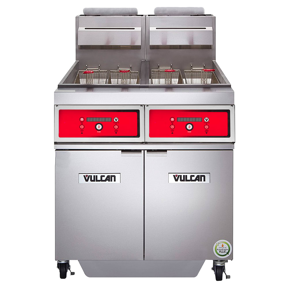 Vulcan 2TR45AF Gas Fryer - (2) 50-lb Vat, Floor Model, NG