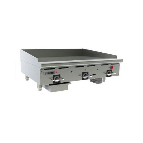 "Vulcan 36RRG NG 36"" Gas Griddle - Thermostatic, 3/4"" Steel Plate, NG"