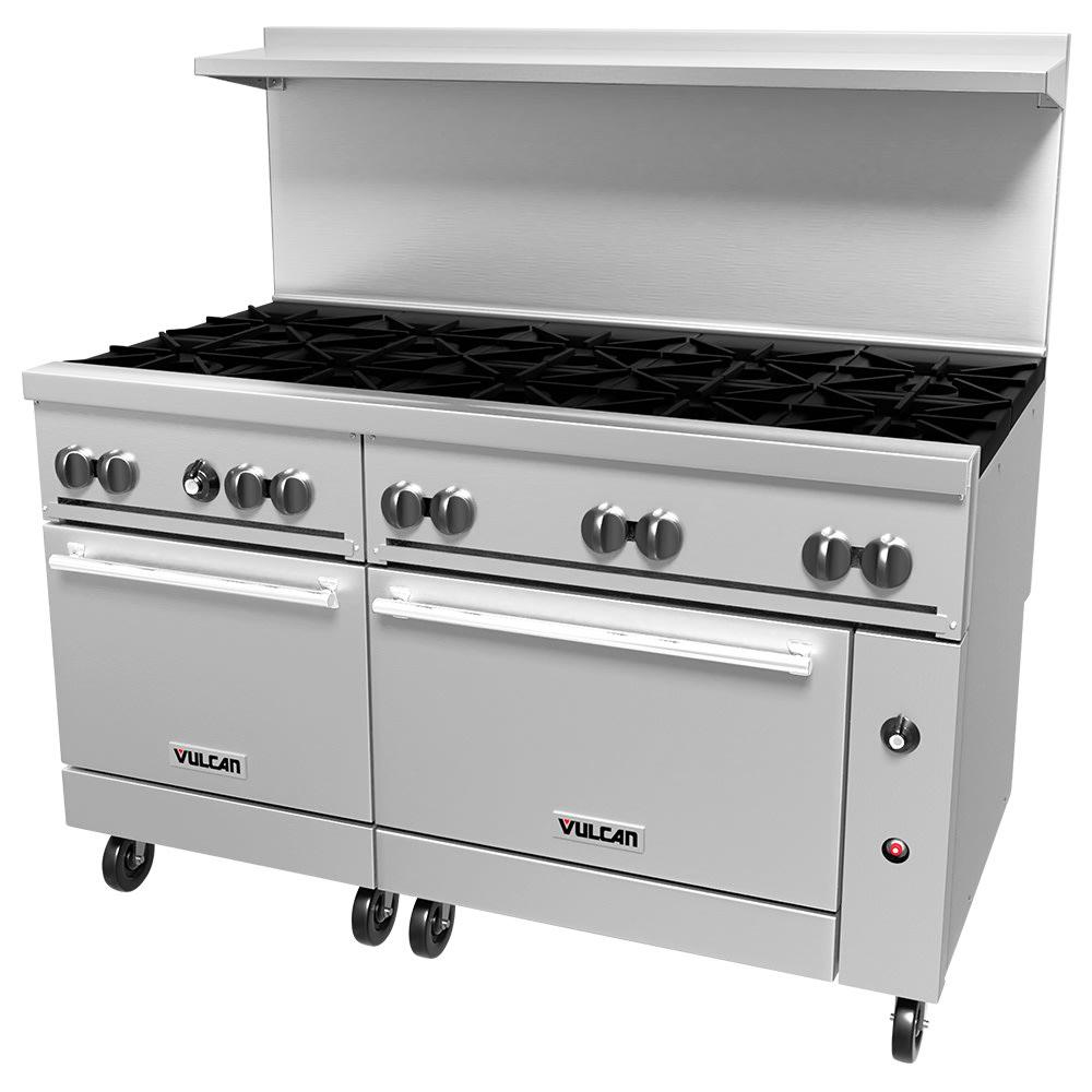 "Vulcan 60SC-10B 60"" 10 Burner Gas Range w/ Standard/Convection Ovens, LP"