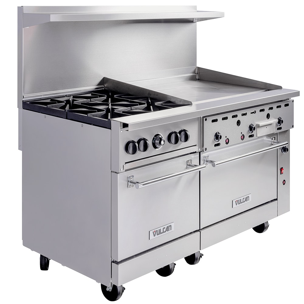 "Vulcan 60SC-4B36GT 60"" 4-Burner Gas Range with Griddle, LP"