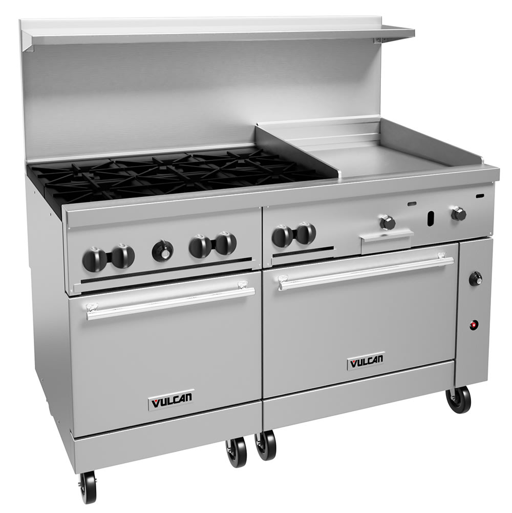 "Vulcan 60SC-6B24GT 60"" 6 Burner Gas Range w/ Griddle, LP"