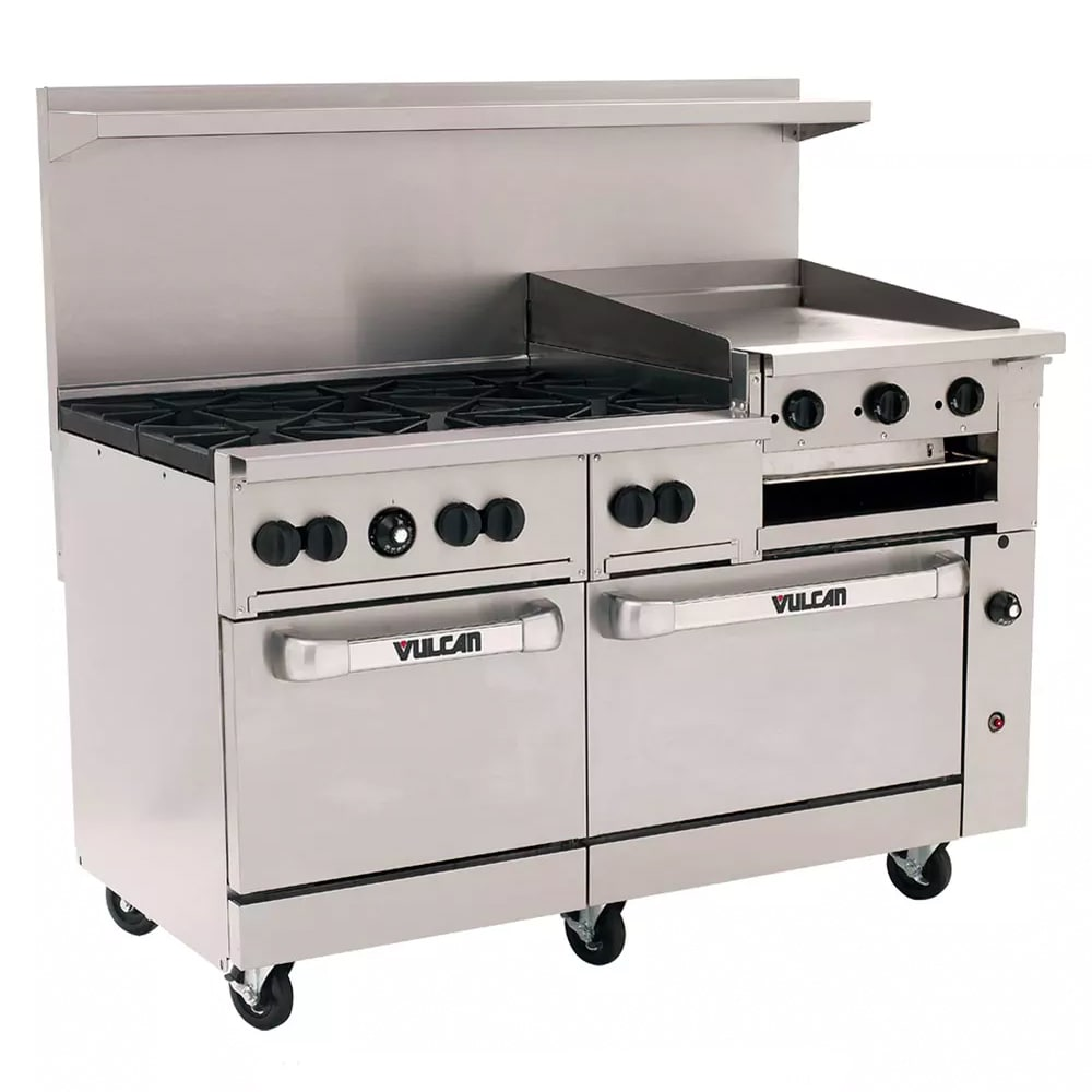"Vulcan 60SS-6B24GB 60"" 6-Burner Gas Range with Griddle & Broiler, NG"