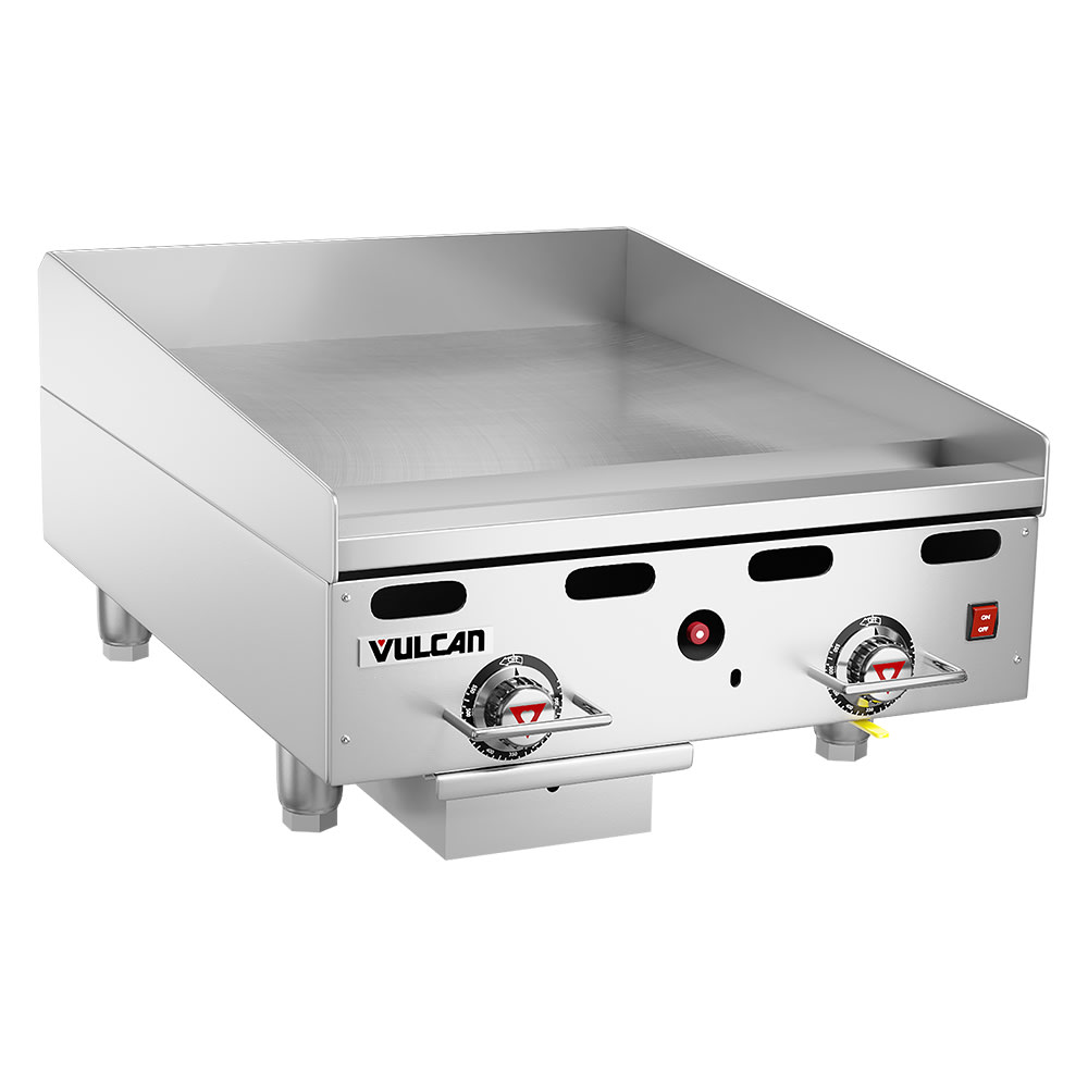 "Vulcan 924RX 24"" Electric Griddle - Thermostatic, 1"" Steel Plate, NG"