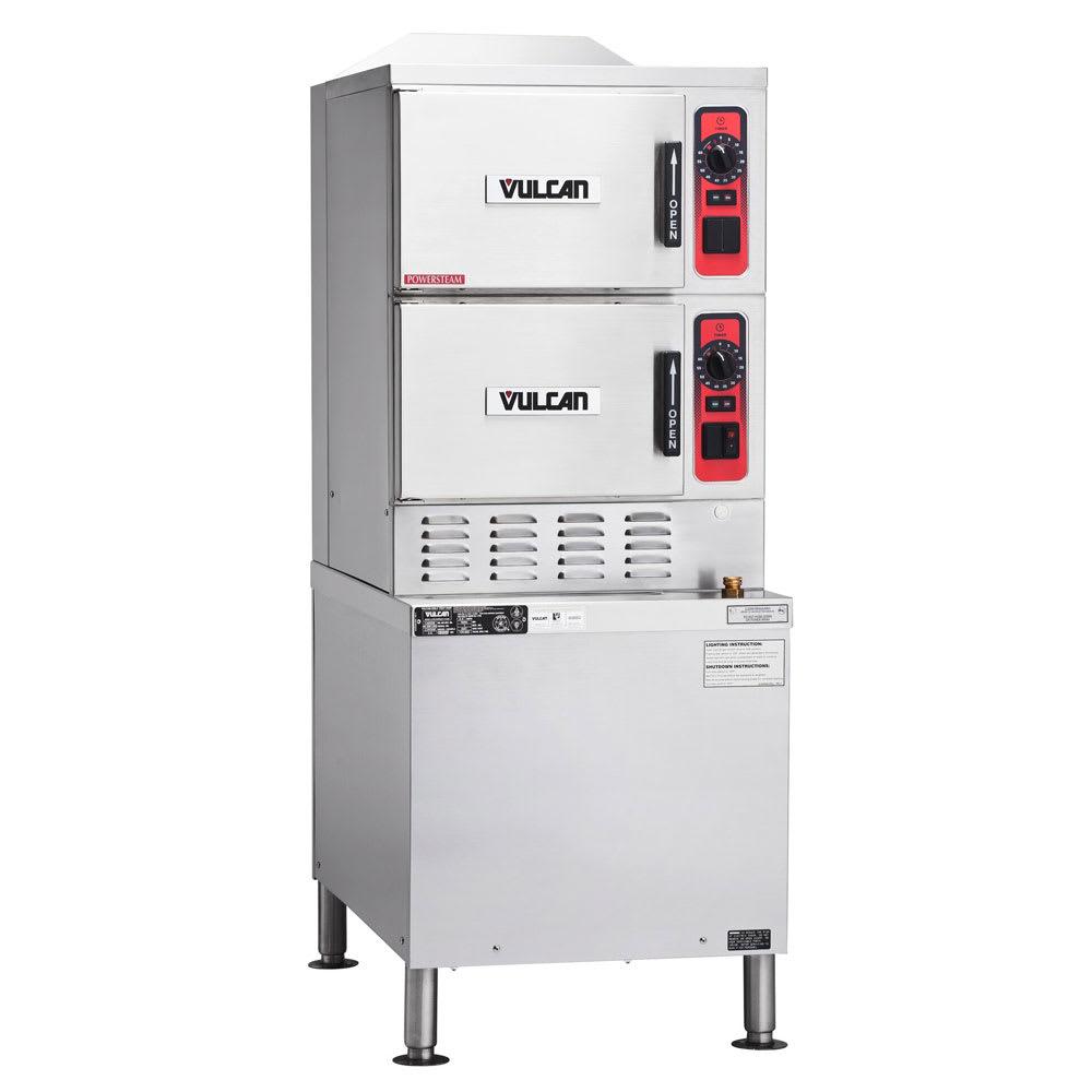 Vulcan C24EA6 Electric Floor Model Steamer w/ (6) Full Size Pan Capacity, 240v/3ph