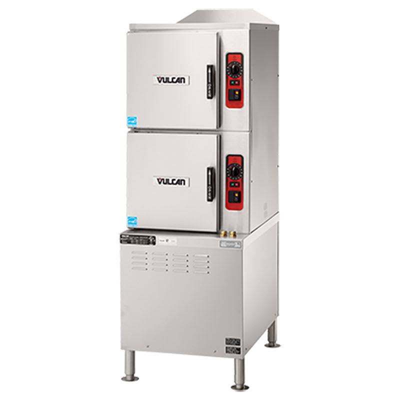Vulcan C24ET10-LWE Electric Floor Model Steamer w/ (10) Full Size Pan Capacity, 208v/3ph