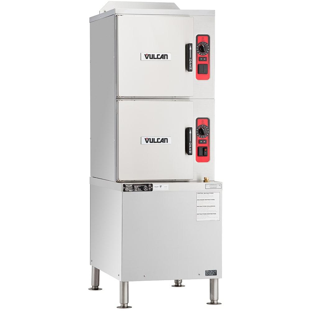 Vulcan C24GA10 Gas Floor Model Steamer w/ (10) Full Size Pan Capacity, LP
