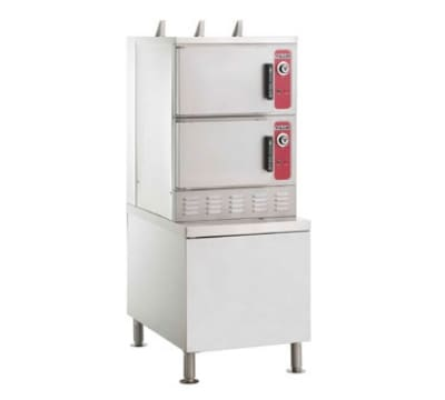 Vulcan C24GA10 PS Gas Floor Model Steamer w/ (10) Full Size Pan Capacity, LP