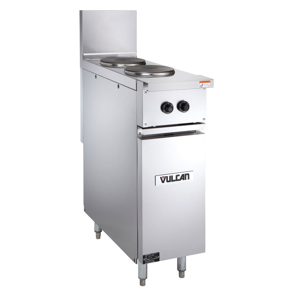 "Vulcan EV12-2FP-480 12"" 2-Sealed Element Electric Range, 480v/1ph"