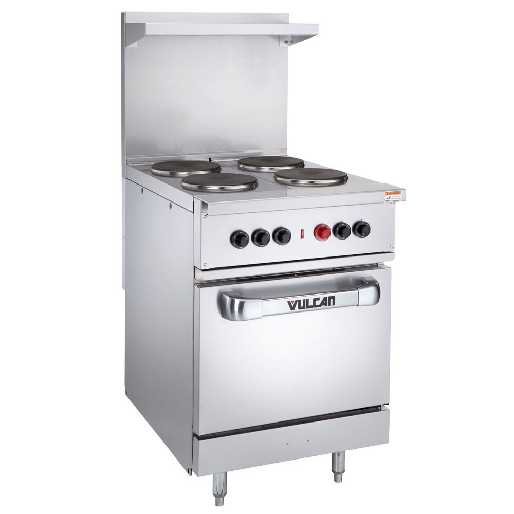 "Vulcan EV24-S-4FP-208 24"" 4 Sealed Element Electric Range, 208v/1ph"