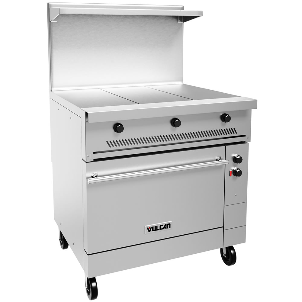"Vulcan EV36-S-3HT-480 36"" Electric Range with (3) Hot Top, 480v/3ph"