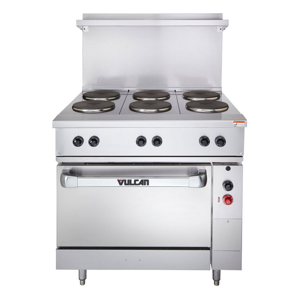 "Vulcan EV36-S-6FP-240 36"" 6 Sealed Element Electric Range, 240v/1ph"