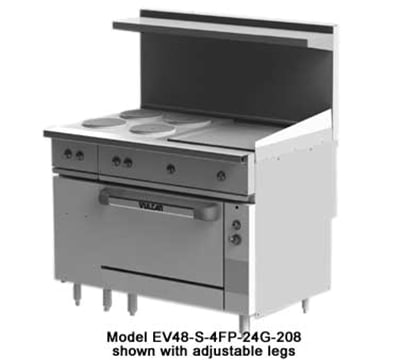 """Vulcan EV48-S-4FP24G240 48"""" 4 Sealed Element Electric Range with Griddle, 240v/1ph"""
