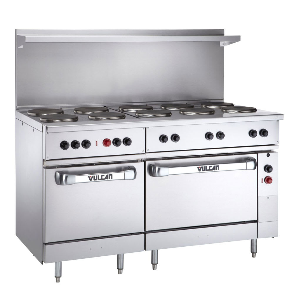 "Vulcan EV60-SS-10FP-480 60"" 10-Sealed Element Electric Range, 480v/1ph"