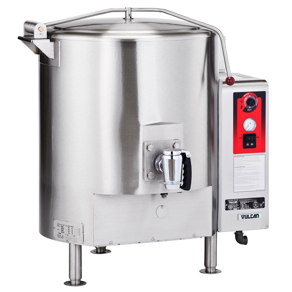 Vulcan GL40E Fully Jacketed Stationary Kettle, 40-Gallon Capacity, NG