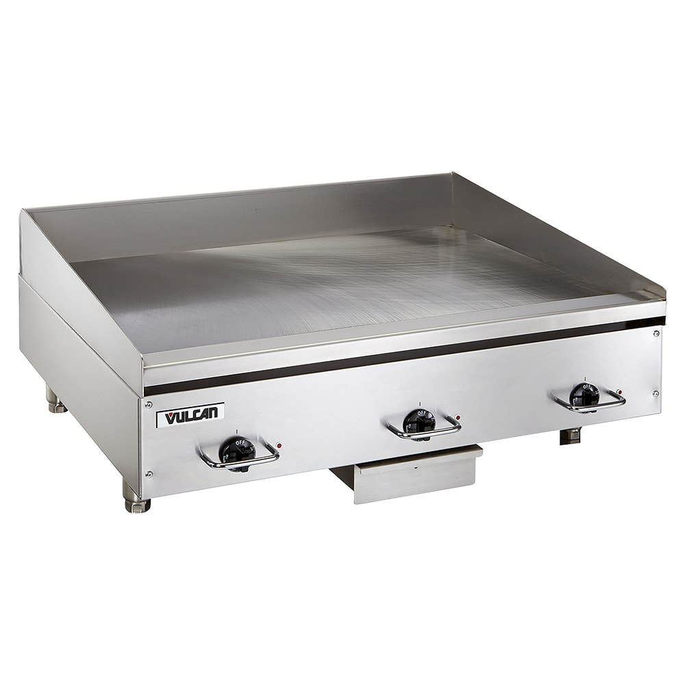 "Vulcan HEG36E 36"" Electric Griddle - Thermostatic, 1/2"" Steel Plate, 240v/3ph"