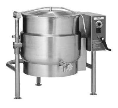 Vulcan K20ELT 20-Gallon Tilting Kettle w/ Manual Tilt, Faucet Bracket, 240/3 V
