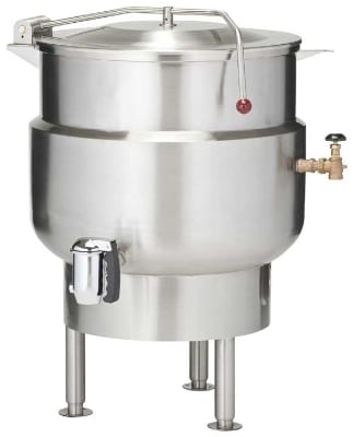 """Vulcan K40DL 40-Gallon Stationary Kettle w/ 2"""" Compression Draw-Off Valve"""