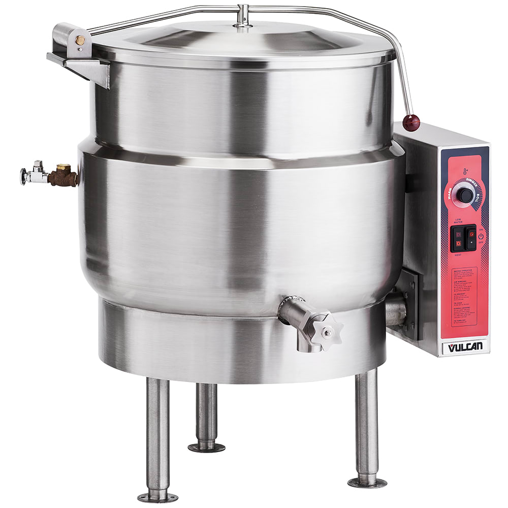 Vulcan K40EL Stationary Kettle w/ 40 Gallon Capacity, Spring Cover, 240/3 V