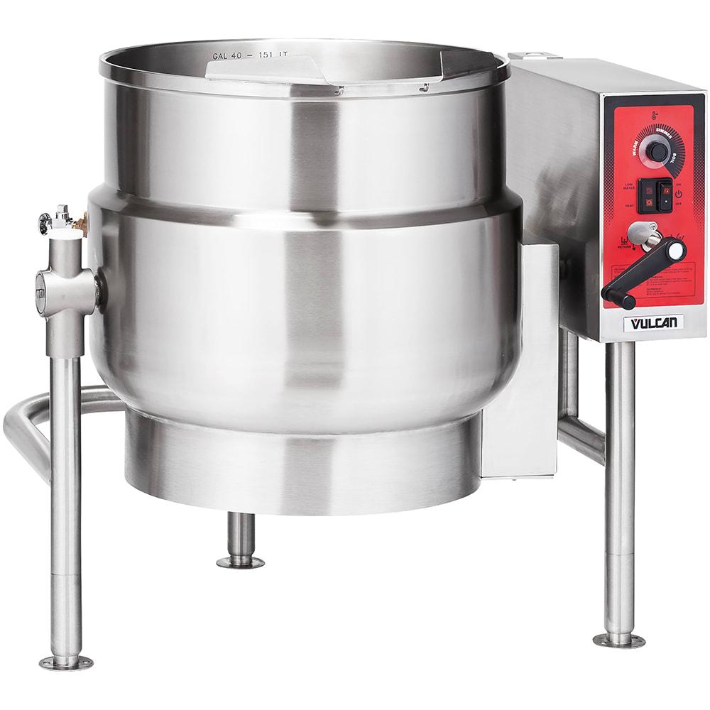 Vulcan K40ELT 40 Gallon Tilting Kettle w/ Manual Tilt, Faucet Bracket, 240/3 V