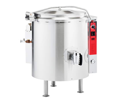 Vulcan K40GL-LP Stationary Kettle w/ 40 Gallon Capacity, Spring Cover, LP