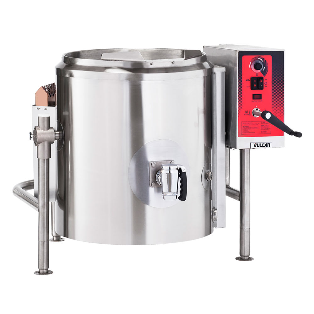 Vulcan K60GL 60 Gallon Stationary Kettle w/ Spring Assist Cover, Draw-off, LP