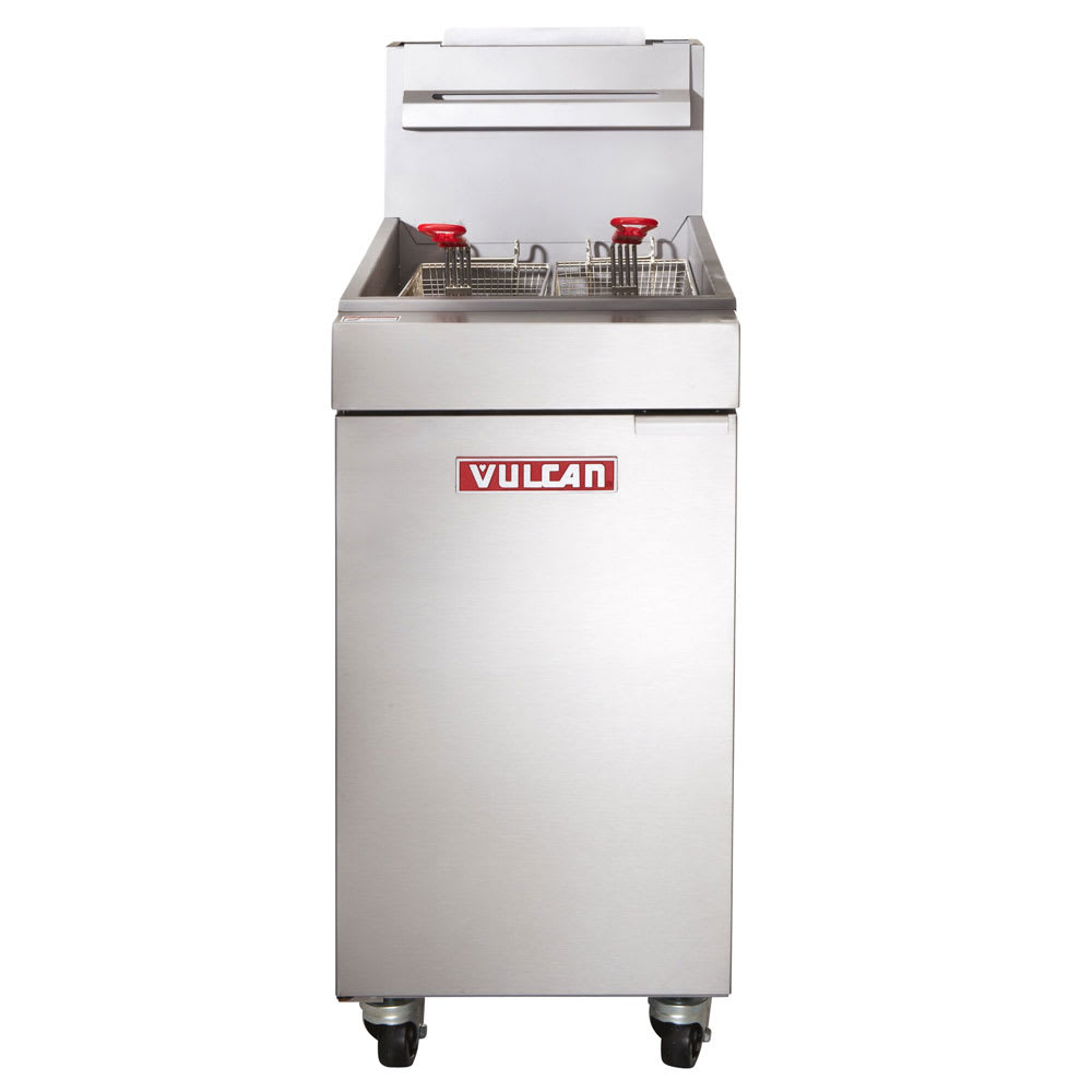 Vulcan LG300 Gas Fryer - (1) 40 lb Vat, Floor Model, LP