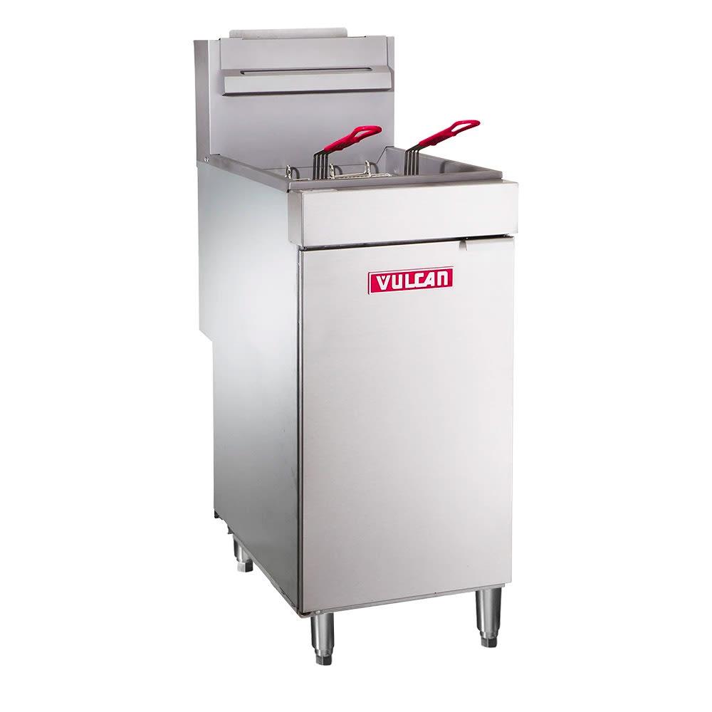 Vulcan LG400 Gas Fryer - (1) 50-lb Vat, Floor Model, LP