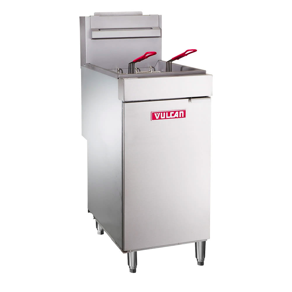 Vulcan LG400 Gas Fryer - (1) 50 lb Vat, Floor Model, NG