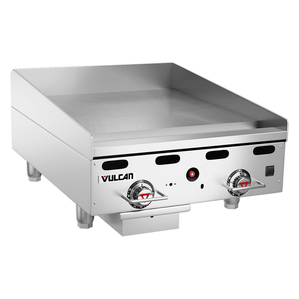 "Vulcan MSA24 24"" Gas Griddle - Thermostatic, 1"" Steel Plate, LP"
