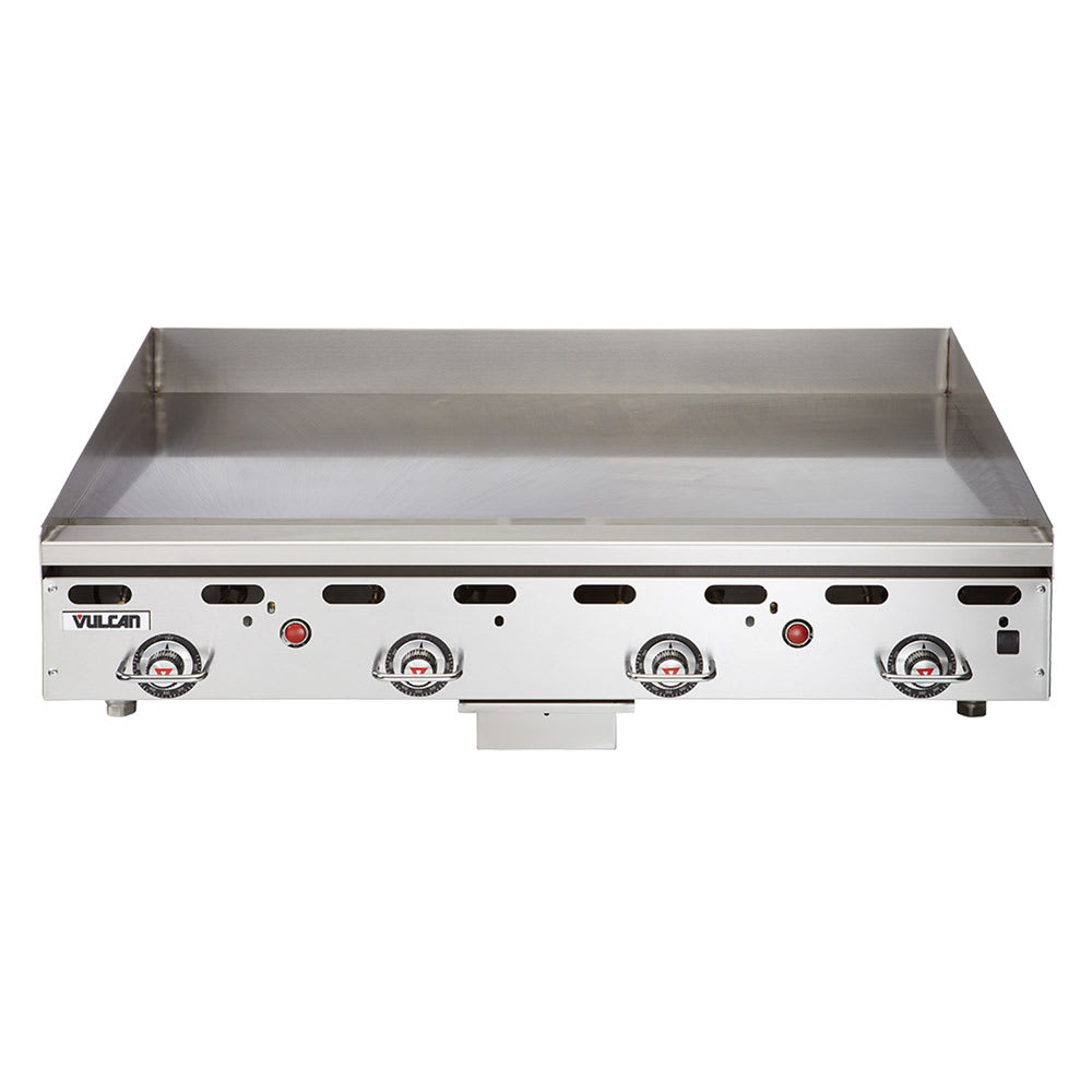 """Vulcan MSA48 48"""" Gas Griddle - Thermostatic, 1"""" Steel Plate, LP"""