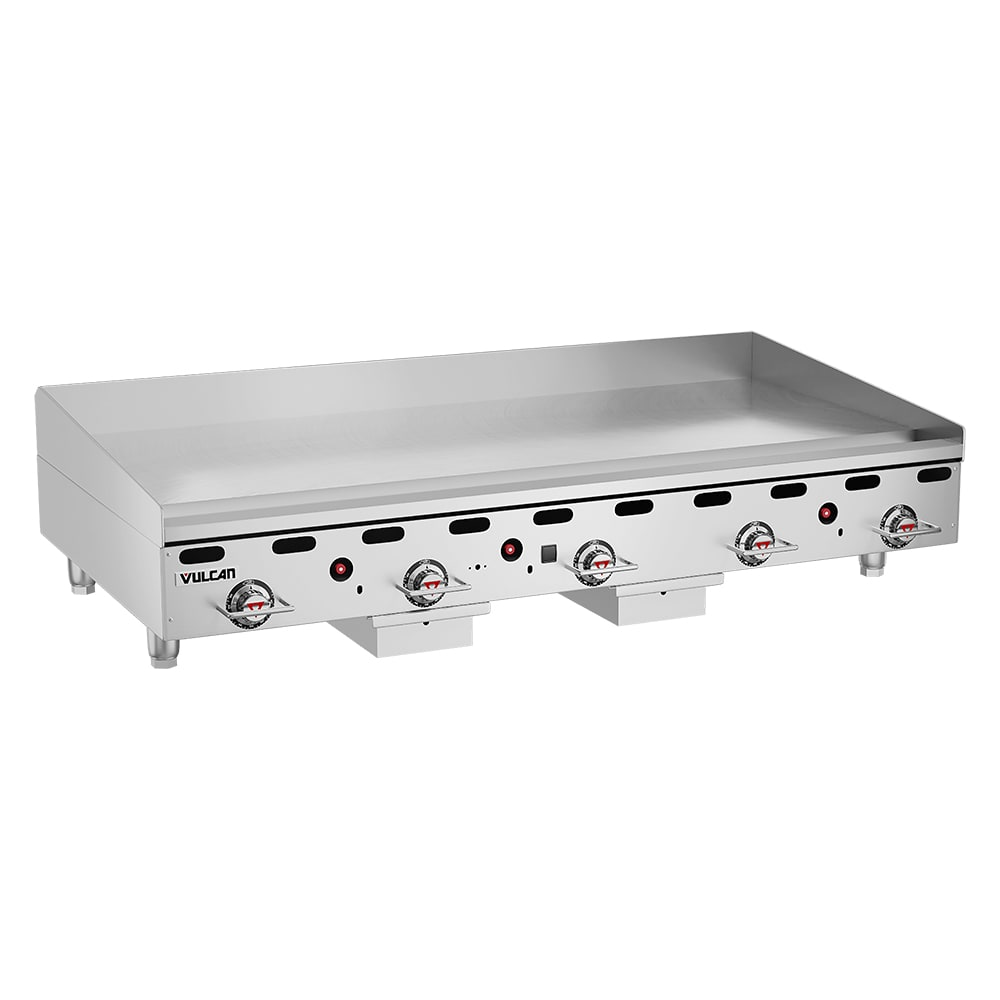 "Vulcan MSA60NG 60"" Gas Griddle - Thermostatic, 1"" Steel Plate, NG"