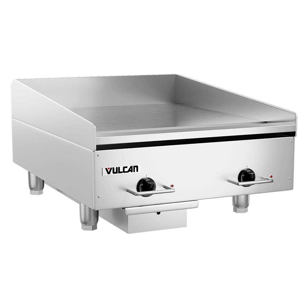 """Vulcan RRE24D 24"""" Electric Griddle - Thermostatic, 3/4"""" Steel Plate, 208v/3ph"""