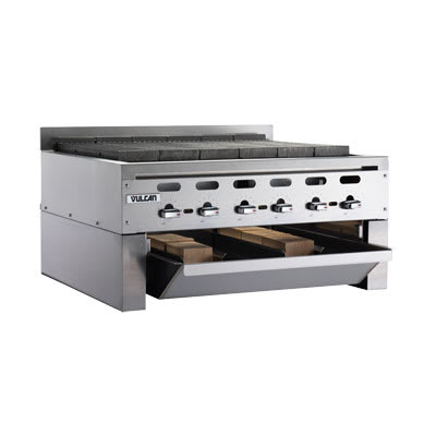 Vulcan SMOKER-VACB36 Wood Assist Achiever Smoker Base w/ (2) Grease Trays, Stainless