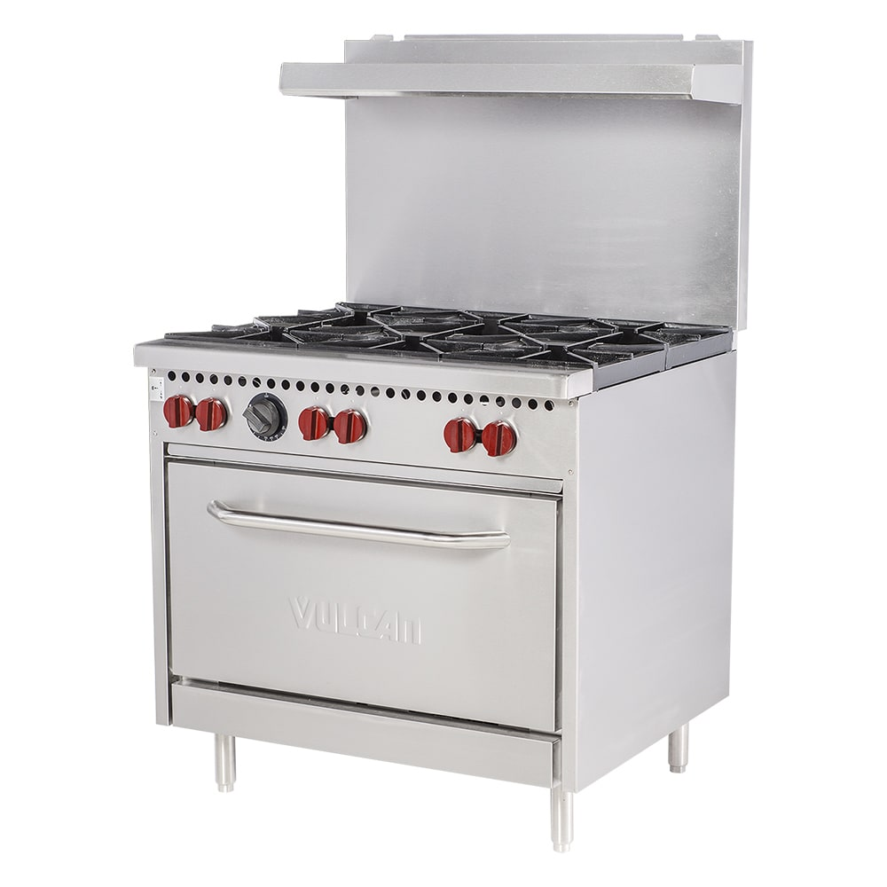 "Vulcan SX36-6B 36"" 6 Burner Gas Range w/ Standard Oven, NG"