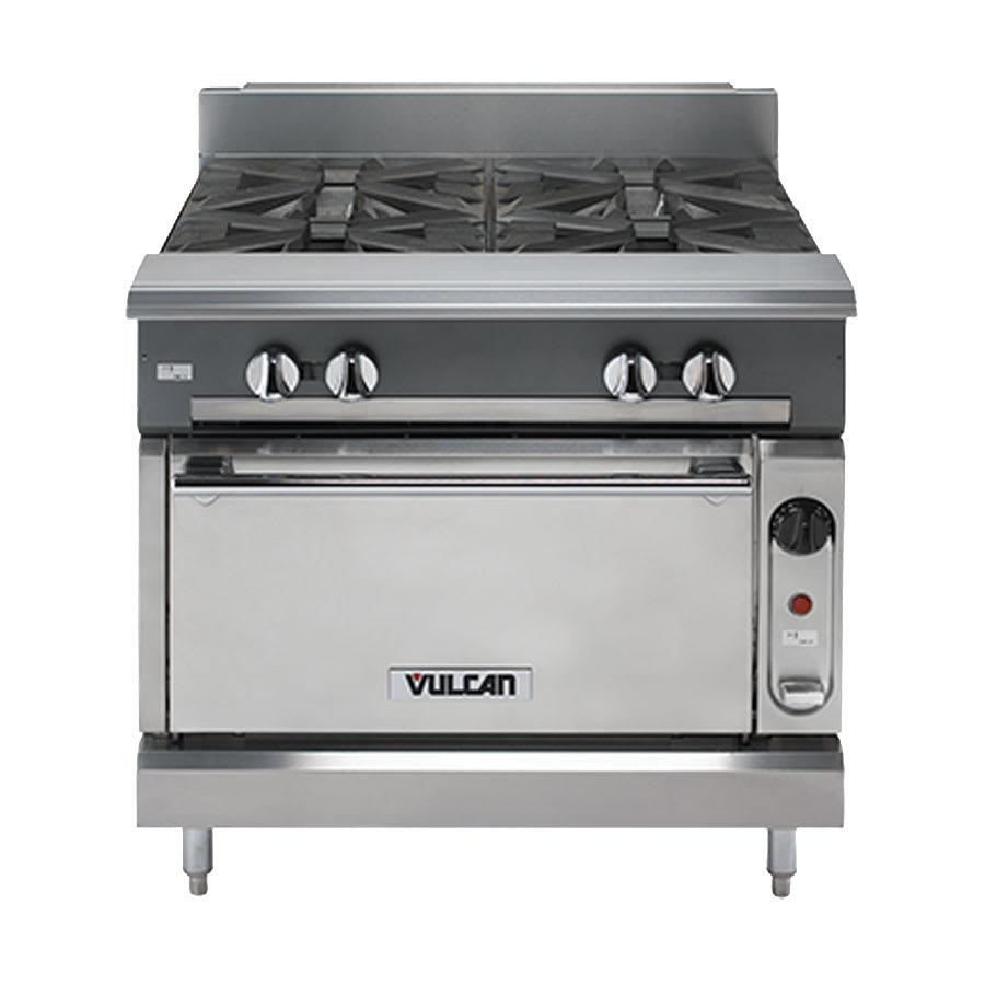 """Vulcan V4B36 36"""" 4-Burner Gas Range, LP"""