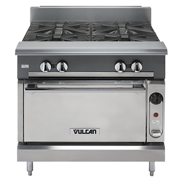 "Vulcan V6B36C 36"" 6 Burner Gas Range, NG"