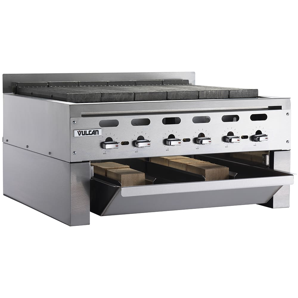 "Vulcan VACB36 36"" Radiant Charbroiler w/ Cast Iron Grates, NG"