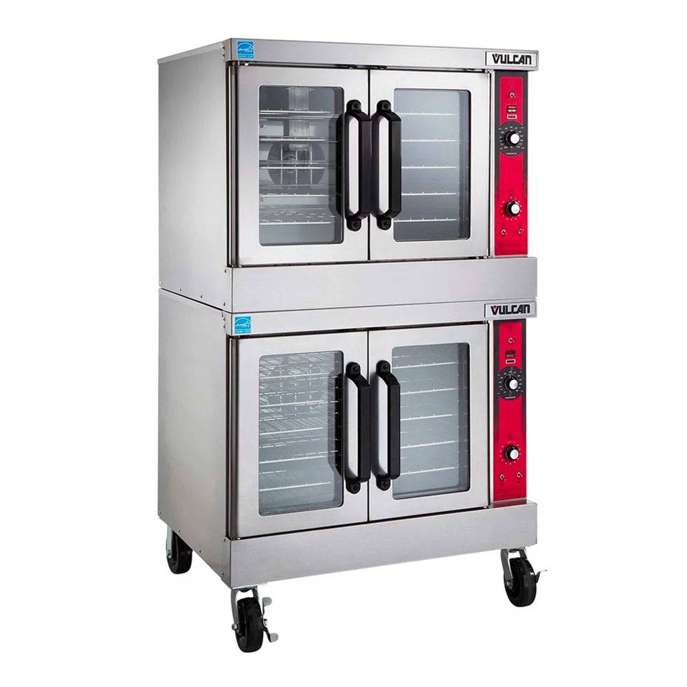 Vulcan VC44ED Double Full Size Electric Convection Oven - 240v/3ph