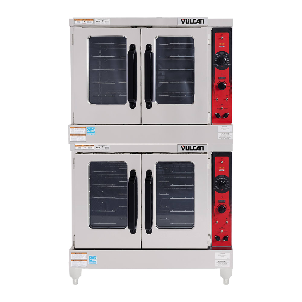 Vulcan VC55GD Double Full-Size Electric Convection Oven - LP